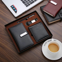 Fashion Bussiness Gift Sets Luxury Sets Keychain Notebook Business Card Holder Signature Pen For Traveling sets Father Men Gifts
