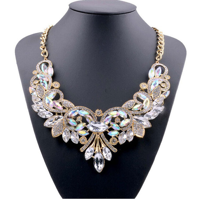 Crystal Bib Statement Necklace