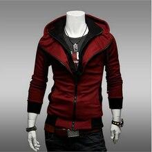 Asian Size Hooded Jacket Casual Winter Jackets hoody sportswear Assassins Creed Men s Clothing Hoodies Sweatshirts