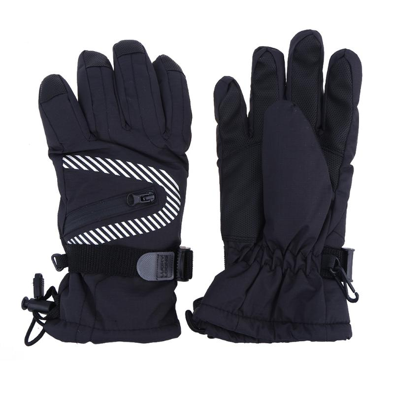 Winter Warm Cycling Gloves Outdoor Skiing Gloves Windproof Waterproof Warm Riding Gloves Drawstring Camping Mittens