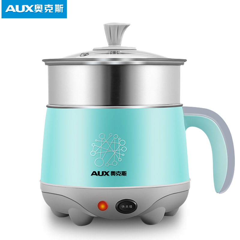 220V AUX 1.5L Mini Electric Cooker Portable Multifunctional Hot Pot 2 Gear Quick/Slow Control With Steamer HX-12B88 cukyi stainless steel electric slow cooker plug ceramic cooker slow pot porridge pot stew pot saucepan soup 2 5 quart silver