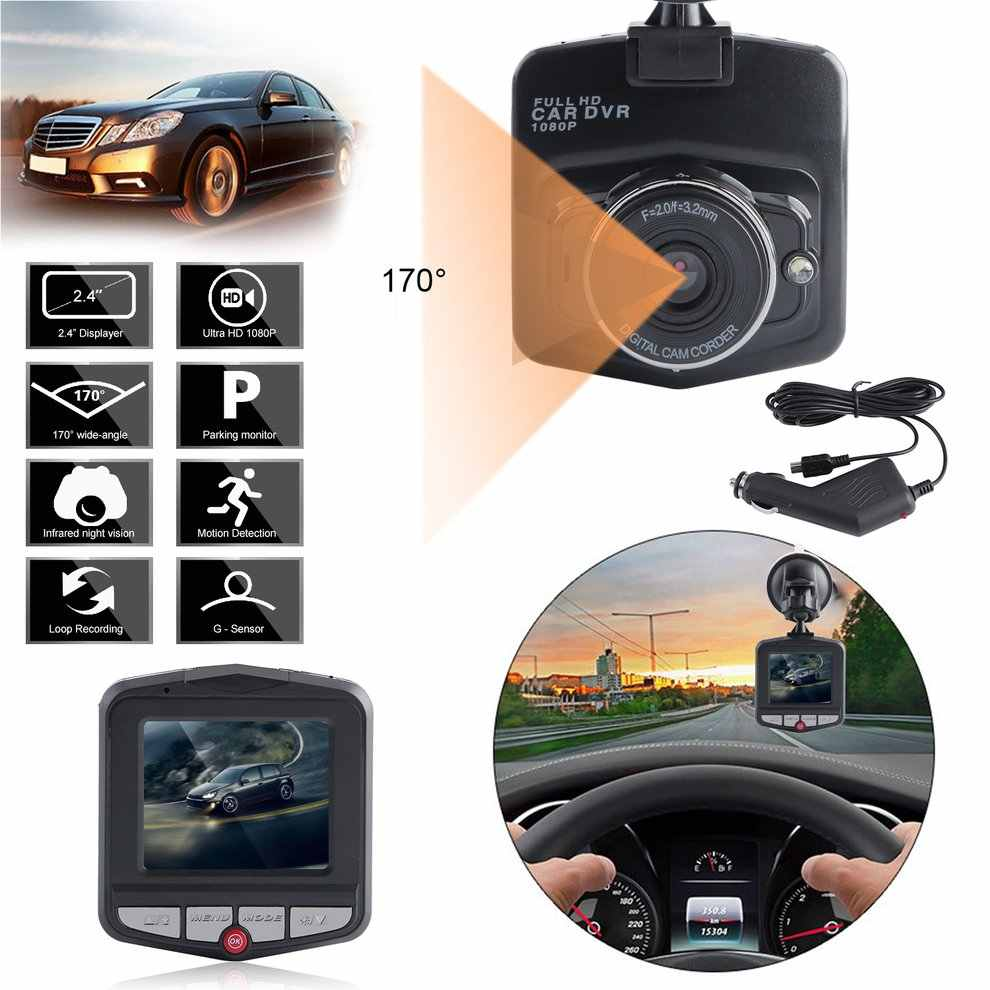 Universal 2.4inch Full HD Lens 1080P Car Auto Camcorder DVR Vehicle Camera Video Recorder Dash Cam G-sensor