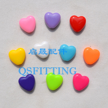 100 шт DIY детские ювелирные изделия ручной работы аксессуары 12 мм акриловые сахарные шарики в форме сердца разноцветные браслеты Отдел изготовления