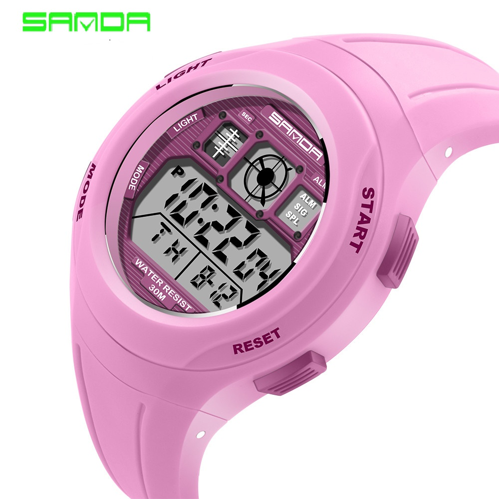SANDA brand children's sports watch swimming watch sports cartoon casual digital watch boy girl LED multi-function watch