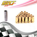 GRT - Mute SR48 Racing LUG NUTS 12X1.5 1.25 ACORN RIM EXTENDED OPEN END FOR universal Nissan Toyota Mazda Chevrolet