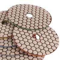 ZFE Seco 4 polegada 50 #150 #300 #500 #1000 #2000 # Conjunto de Almofadas de Polimento de diamantes Molhado Para Polidor de Granito Pedra de Mármore polonês
