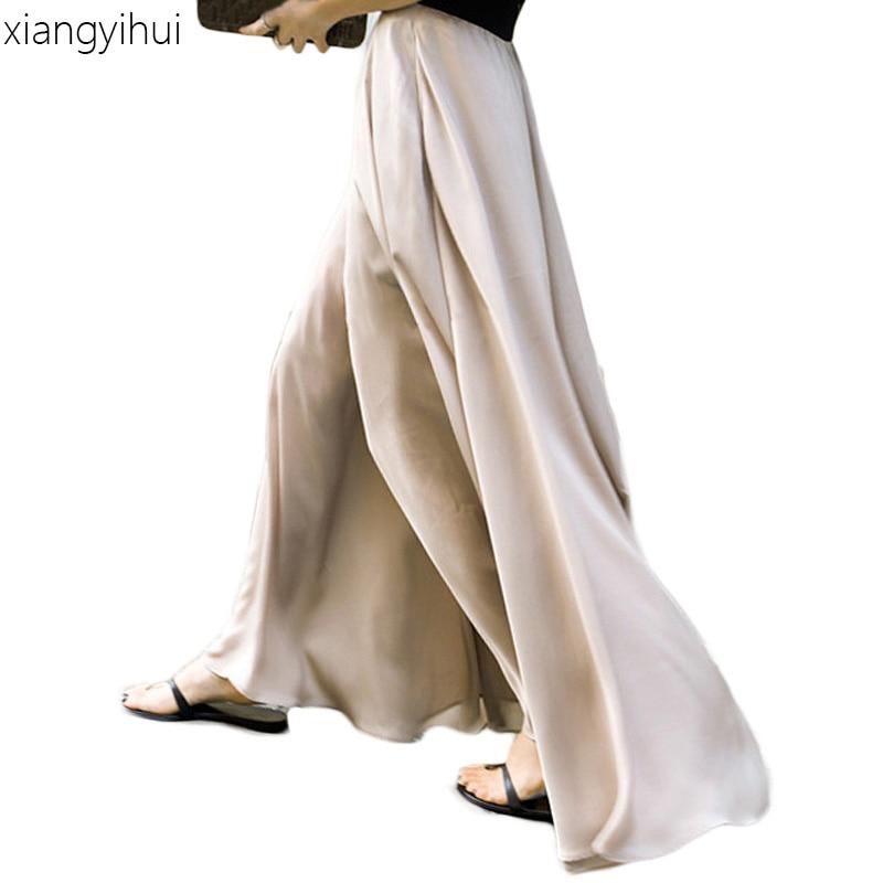 Casual zomer beige breed been broek plus size 4xl dameskleding - Dameskleding