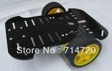 Free shipping 2WD Extend Platform robot chassis smart car chassis for sale