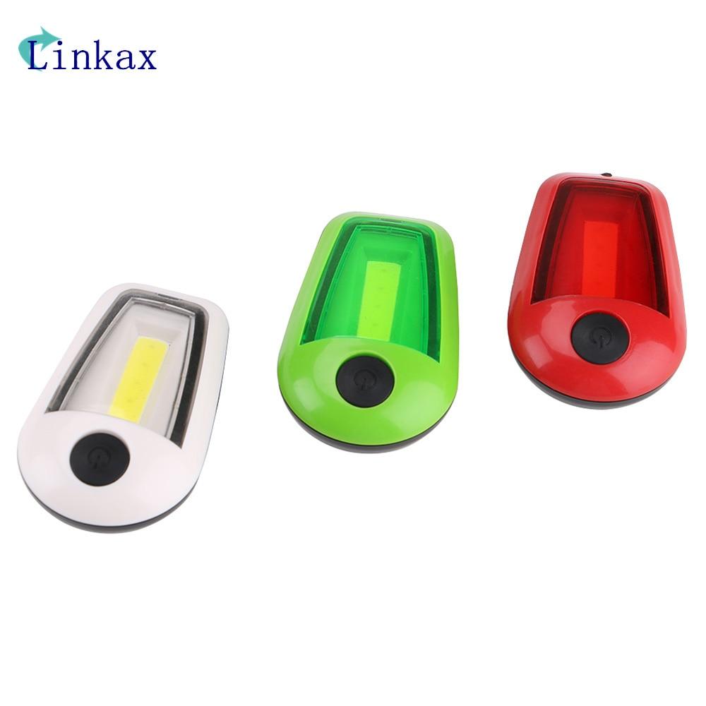 Mini 3 Modes COB LED Flashlight Lamp 2*CR2032 Button Battery Powered Torch Portable Work Light Pocket Flashlight