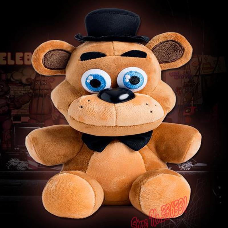 """В наличност Mini Five Nights В Freddy's 4 FNAF Фреди Fazbear Мечка Плюшени играчки Кукли 10 """"С NightmarenCrafts Плюш Безплатна доставка"""