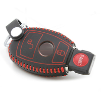 Car Key Case Chain For Mercedes Benz B Glass Gla Gls 2 Buttons Genuine Leather Car