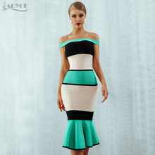 Adyce 2019 New Summer Bandage Dress Women Vestidos Sexy Slash Neck Short Sleeve Off Shoulder Club Celebrity Evening Party Dress рубашка поло с полной запечаткой printio house tully