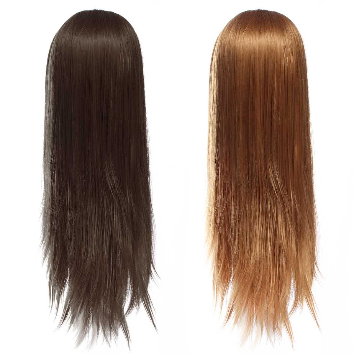 70cm Fiber Hair Hairdressing Training Mannequin Practice Head Salon Professional Hairdresser Styling With Model Bracket