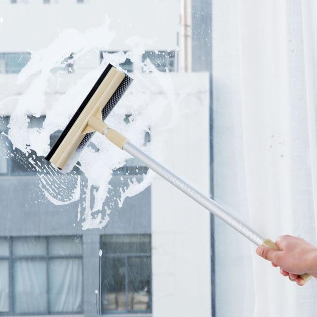 OTHERHOUSE Janela Raspador Limpador de Vidro Escova de Limpeza Longa Alça Extensível Windows Rodo de Borracha Do Limpador