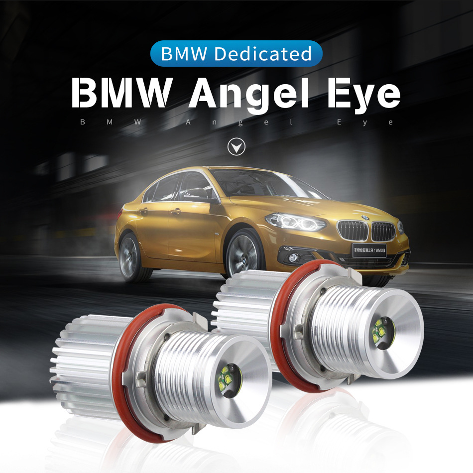 2pcs Car Headlight Accessorie For BMW headlight Angel Eye E39 E53 E64 BMW 1/5/6/7 series 40W 6000K 50000 Hours 1Year Warranty