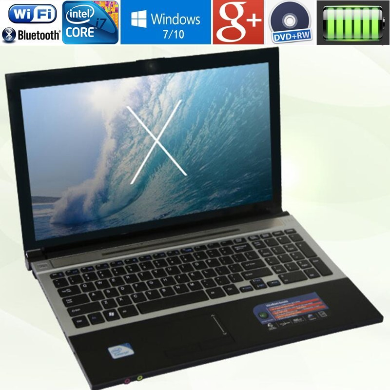 4 gb RAM + 500 gb HDD 15.6 Intel Core i7 Ordinateur Portable Ordinateur Portable Grand Cahier PC DVD En Métal cas AZERTY Italien Espagnol Clavier Russe