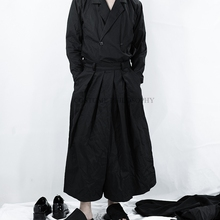 27-44! Высокое качество, большие размеры, брюки, домашние летние новые мужские yamamoto, плиссированное Хлопковое платье с темно-черной плиссированной юбкой