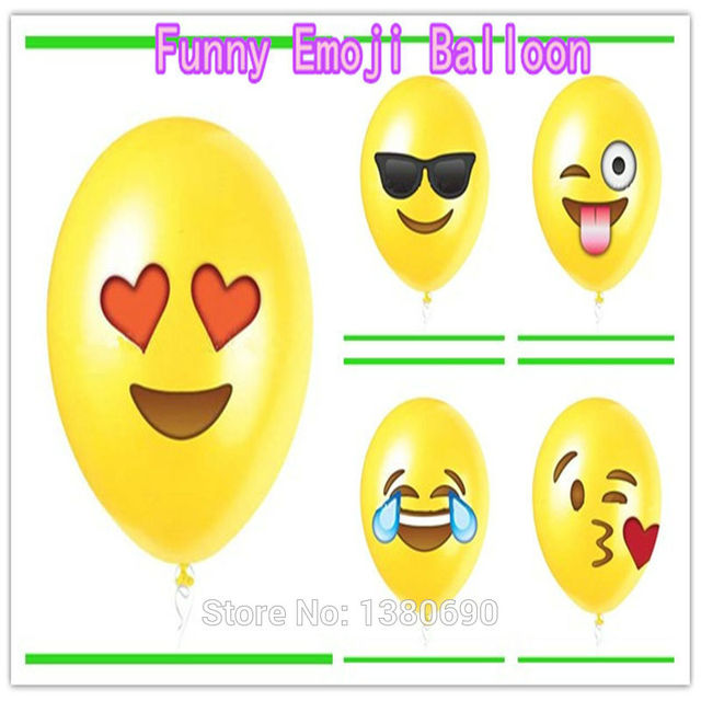 Standard Iphone ISO Emoji Latex Balloons 12inch Print Balloon Birthday Party Decorations Kids Gift Toys