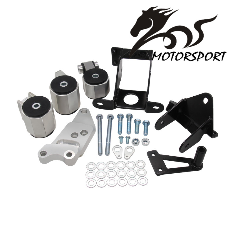 New Engine Swap Mount Kit For HONDA CIVIC 06-11 SI 70A MOTOR ENGINE MOUNTS with logo new auto alternator 6bt engine c3972529 28v 70a