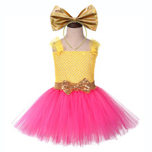 Cute Girls Lol Suprise Dress Children Tulle Lace Halloween Cosplay Tutu Toddler Girl Christmas with Bow Headband