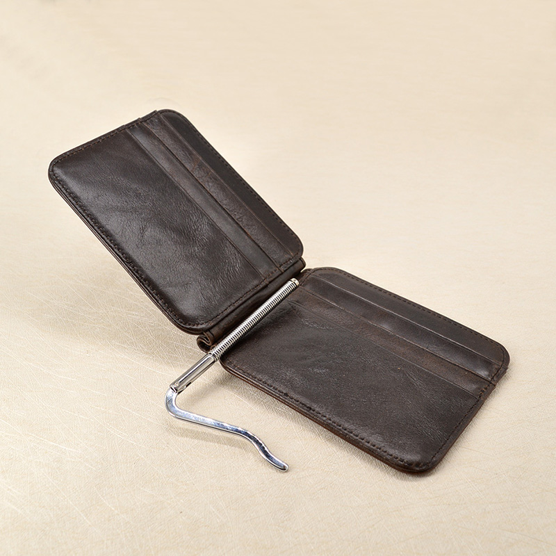 do vintage de couro genuíno Money Clip Card Holder : Money Clip Card Holder