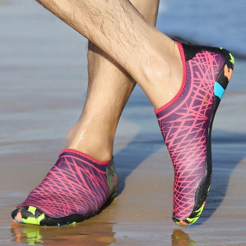 Adulto Unisex zapatos de agua plana al aire libre cojín suave playa buceo mar elástico caminando amante yoga zapatos