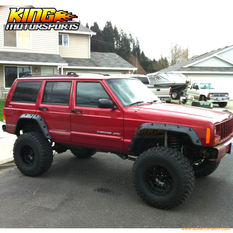 Para 84 01 jeep cherokee xj bolsillo remache estilo llamaradas de la ...