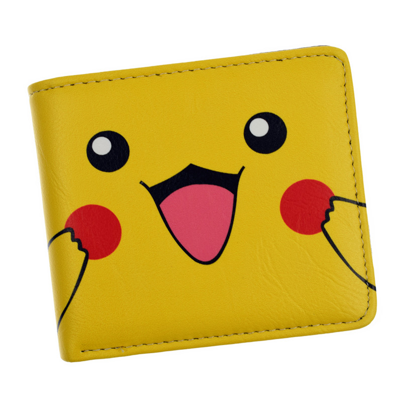 Anime Wallet Poke Pocket Monster Pikachu Purse Two/Three Fold Japanes Cartoon Wallets Drop Shipping anime pu short yellow purse button wallet printed with pikachu of pikachu