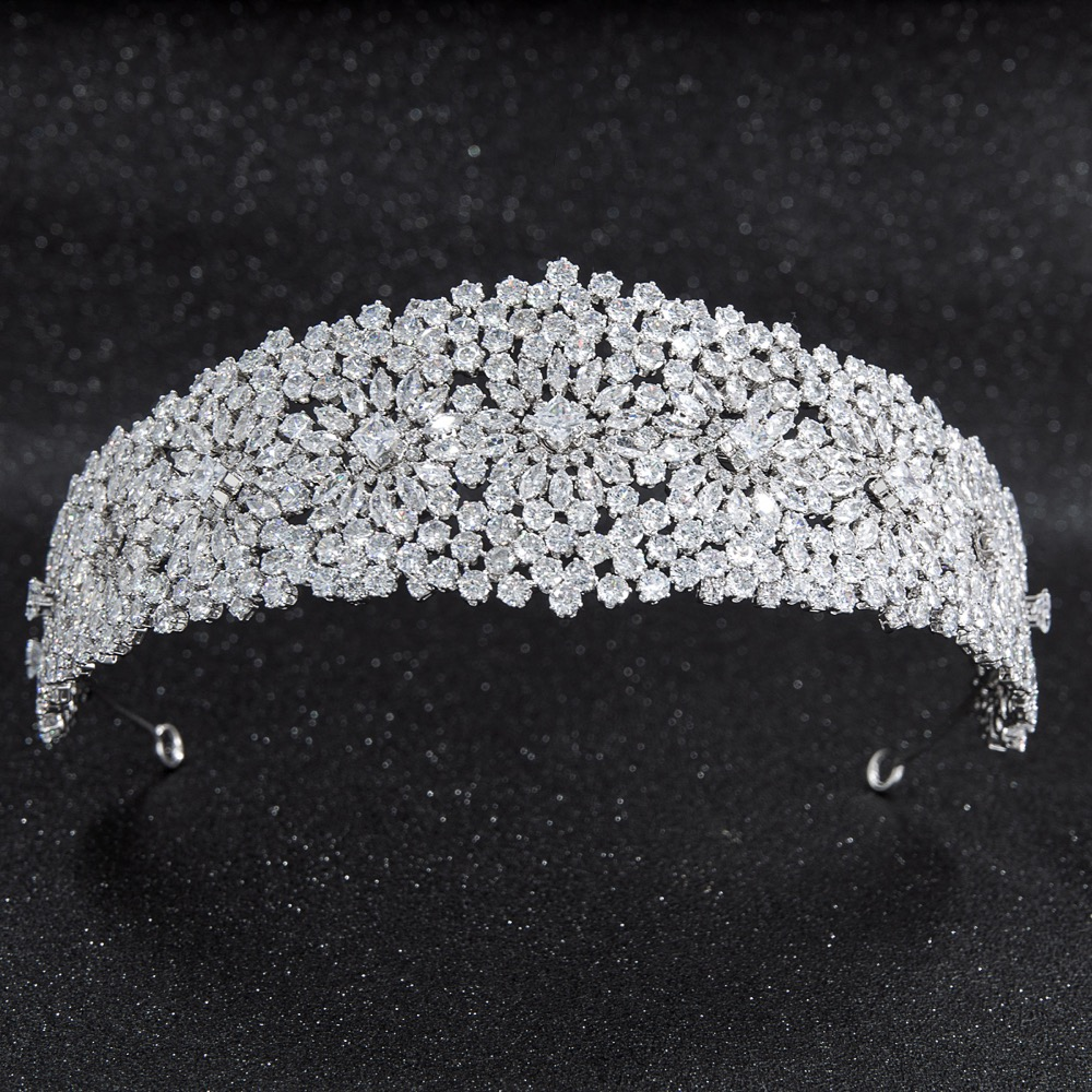 2019 New Crystal Cubic Zirconia Bridal Wedding Soft Headband Hairband Tiara Hair Jewelry Accessories Hairpieces CHA10024