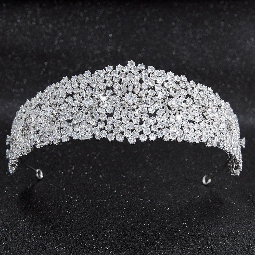 2019 nowy kryształ cyrkonia Bridal ślubnej miękki pałąk Hairband Tiara włosów biżuteria akcesoria treski CHA10024 w Biżuteria do włosów od Biżuteria i akcesoria na  Grupa 1