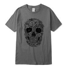 Men t shirts 100% cotton casual short sleeve punish printed