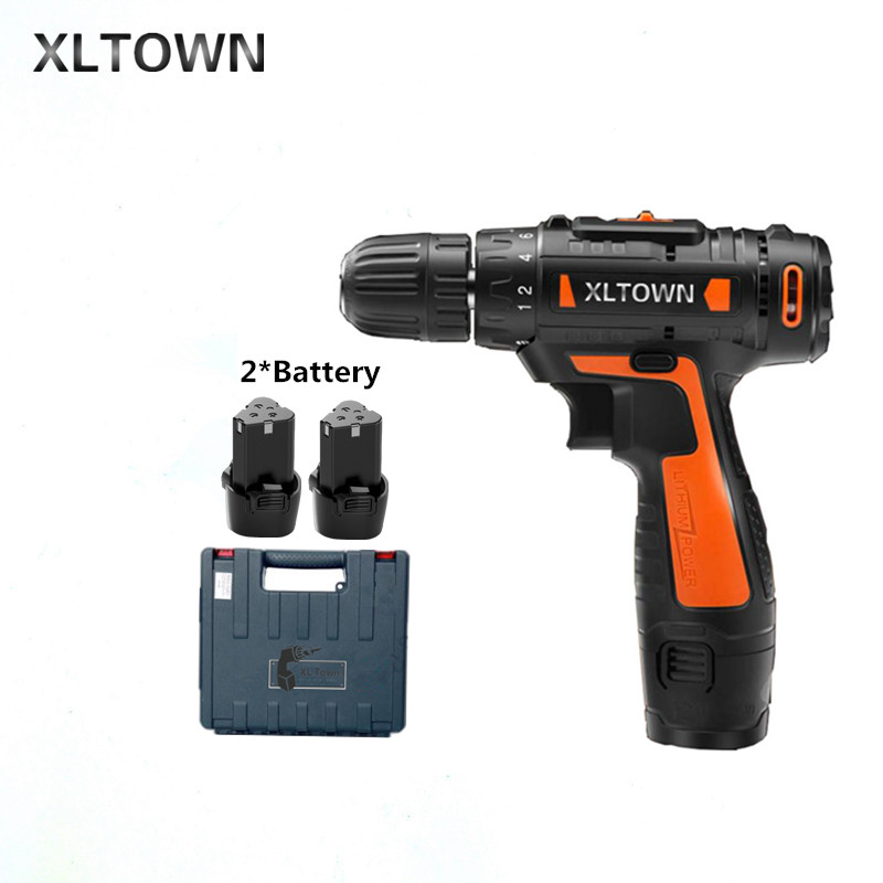 все цены на Xltown12v Cordless Mini Electric Drill with 2 battery Multi-energy lithium battery Two-speed electric screwdriver power tools онлайн