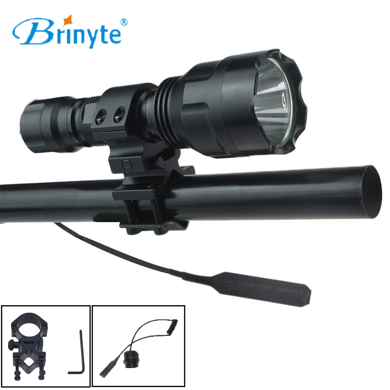 Brinyte B28 Hunting Flashlight Torch Light Cree XM-L2 LED 700 lumen LED Flashlight Waterproof LED Lantern Lamp with Rifle Mount led tactical flashlight 501b cree xm l2 t6 torch hunting rifle light led night light lighting 18650 battery charger box