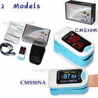 2019 CMS50M/NA Finger Tip Pulse Oximeter Blood Oxygen , Spo2 Monitor,Carry Case,Lanyard,HOT SALE CE CONTEC