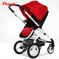 High landscape Baby Stroller, Foldable Baby Pram with rubber wheel, Portable Baby Cart and Aluminium Alloy frame