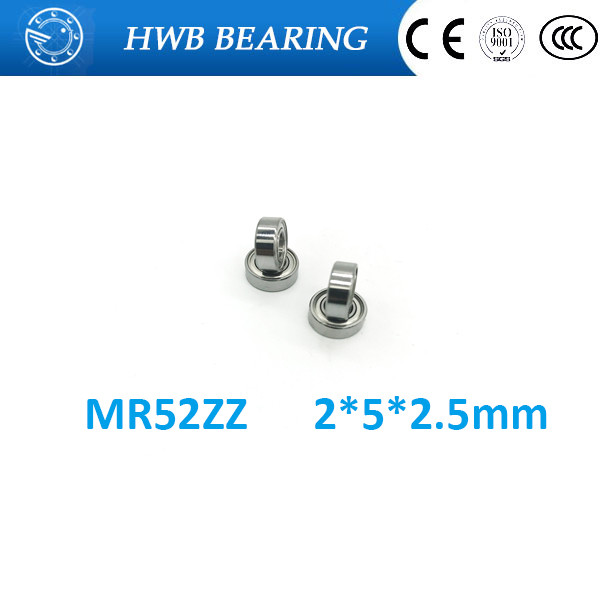 10pcs High quality Low-speed bearings MR52 ZZ  MR52ZZ MR52Z L-520ZZW52 2 x5x2. 5 mm ABEC-5 1pcs 71822 71822cd p4 7822 110x140x16 mochu thin walled miniature angular contact bearings speed spindle bearings cnc abec 7
