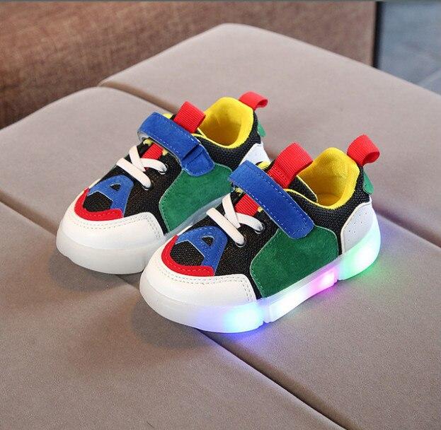 2018 Herbst Neue Helle Kinder Schuhe Led-leuchten Männer Und Frauen Casual Schuhe Koreanische Sport Schuhe Freies Verschiffen Buy One Give One