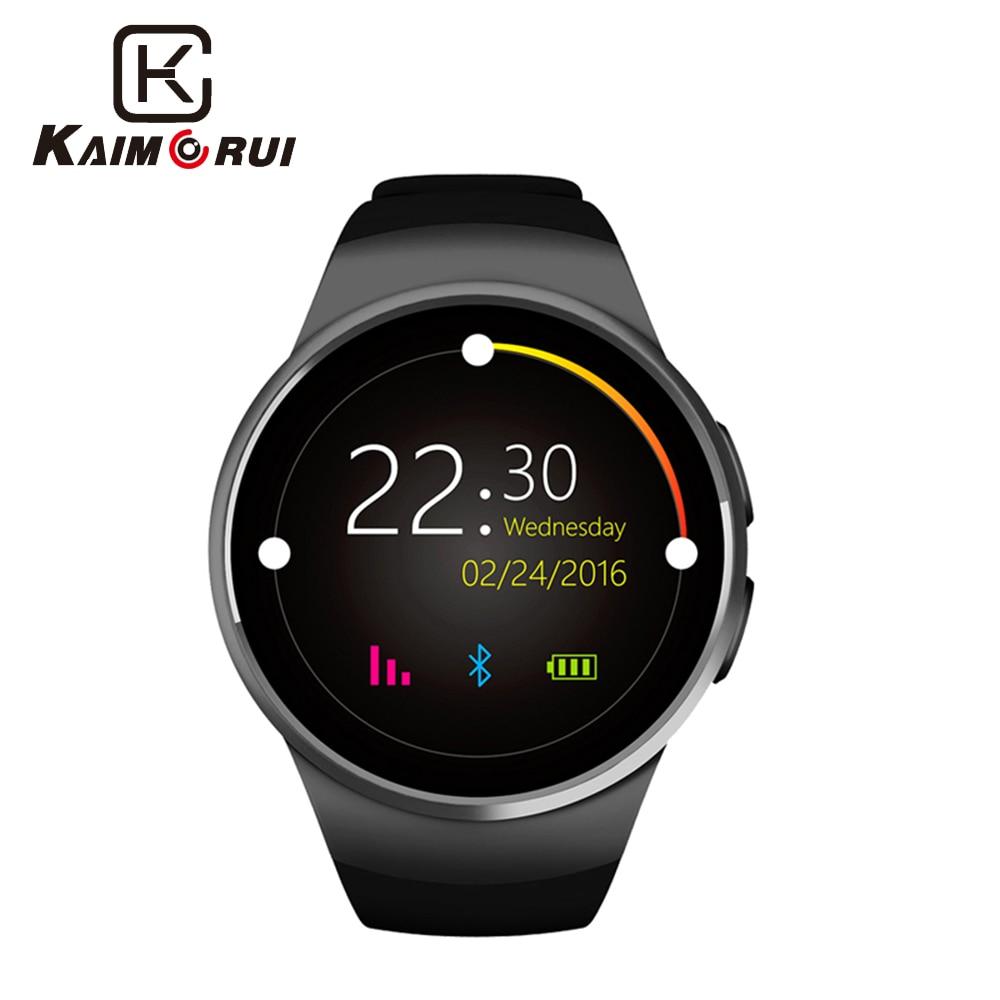 Kaimorui KW18 montre intelligente passomètre prise en charge de la fréquence cardiaque SIM TF carte hommes SmartWatch Bluetooth pour Xiaomi Huawei IOS téléphone intelligent