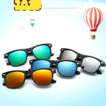 307bd4fd2a Fashion Sunglasses Kids Sunglasses Children s Driving Mirrors Coating  Points Black Frame Girls Eyewear Sun Glasses UV400