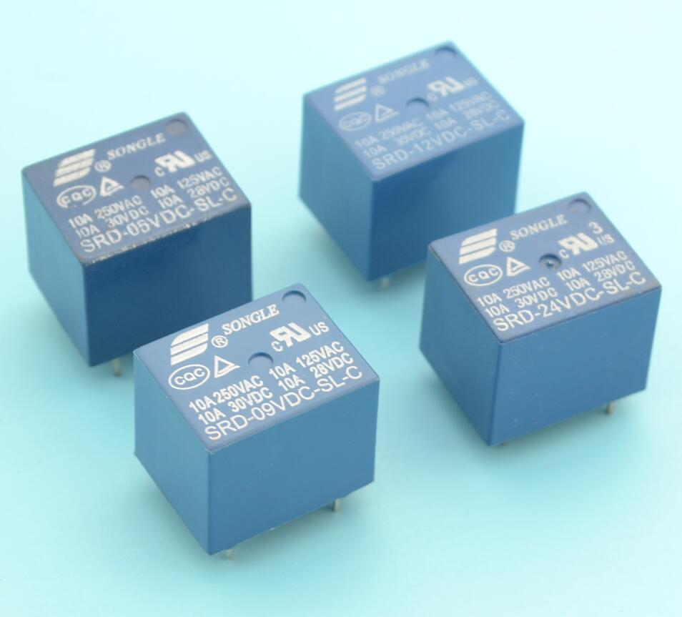 4pcs Songle Pcb Relay No Nc 5 Pins 5v 9v 12v 24v In Relays From And Contacts Of Home Improvement On Alibaba Group
