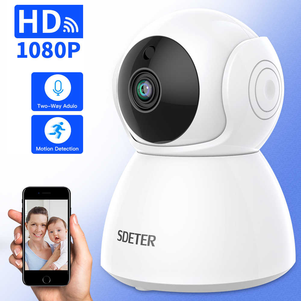 Sdeter Kamera Ip 1080 P Kamera Nirkabel CCTV Pengawasan Keamanan Rumah Kamera Wifi 2 Way Audio Night Vision Baby Monitor Indoor 2MP