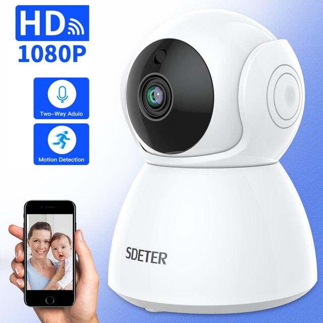 SDETER 1080 P cámara IP inalámbrica CCTV vigilancia casa seguridad Wifi Cámara 2 vías Audio visión nocturna bebé Monitor interior 2MP