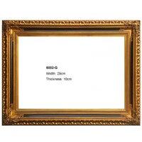 Klasik ahşap çerçeve tuval yağlıboya duvar resim fotoğraf için altın ve Gümüş Çerçeveler