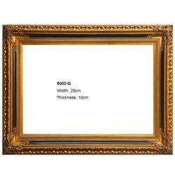 Klasyczna rama drewniana na płótnie obraz olejny na ściane zdjęcia złote i srebrne ramki