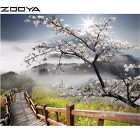 5D Square Diamond Painting Complete Drill Mosaic Embroidery Cross Stitch Landscape Complete Drill AT584