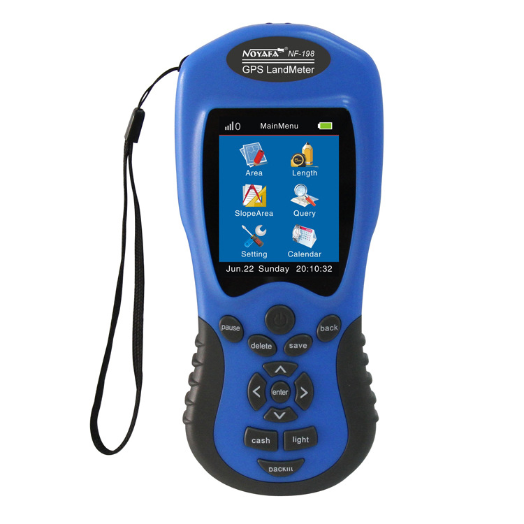 GPS Land meter NF-198 GPS survey equipment use for Farm Land Surveying And Mapping Area Measurement display measuring value land use information system
