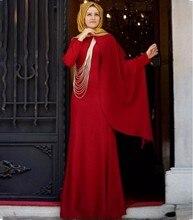 Lange Elegante 2016 Muslimischen Abendkleider Mit Langen Ärmeln Formale Kleider Für Hochzeit Kommunion Plus Größe