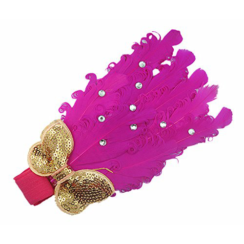Pack of 2 Lovely Cotton Girls Baby Headbands,Feather,purple