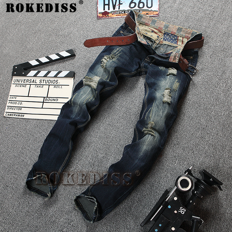 Mens Overalls Jeans Light Blue Brand Vintage designer Casual Hole Ripped Jeans Mens Fashion Denim Pants Silm Fit Male C123  new 2016 fashion brand women washed denim casual hole romper jumpsuit overalls jeans macacao feminino vintage ripped jeans