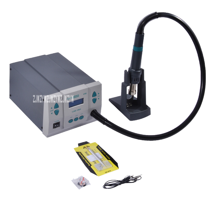 861DW heat gun 1000 w power lead free hot air desoldering station The microcomputer temperature control Rework Station